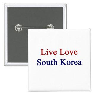 Corea del Sur viva del amor Pins