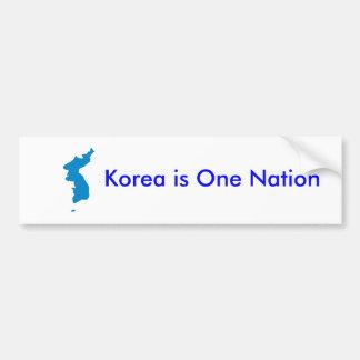 Corea es una nación pegatina de parachoque