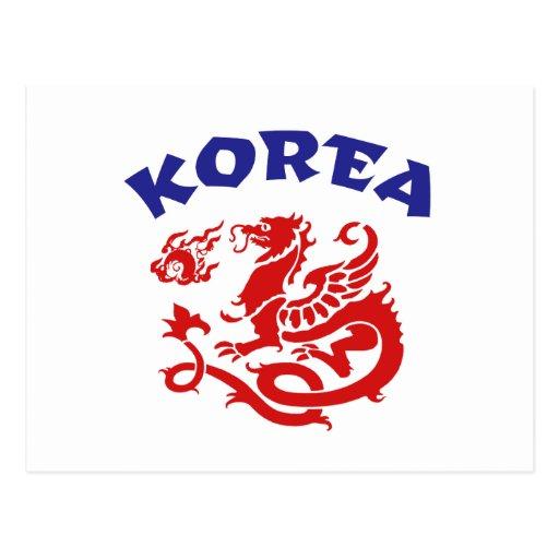 Corea Tarjetas Postales