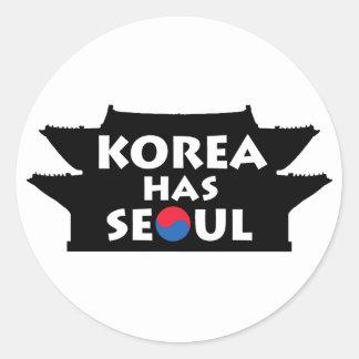 Corea tiene Seul Pegatina Redonda