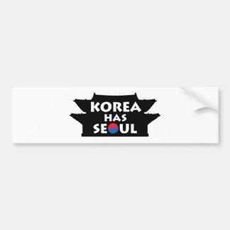 Corea tiene Seul Pegatina Para Auto