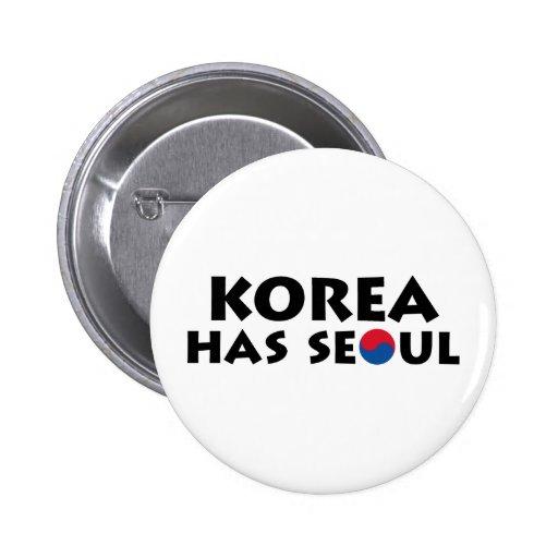 Corea tiene Seul Pin Redondo 5 Cm