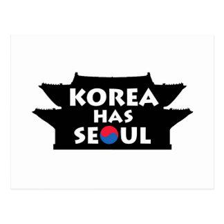 Corea tiene Seul Tarjeta Postal
