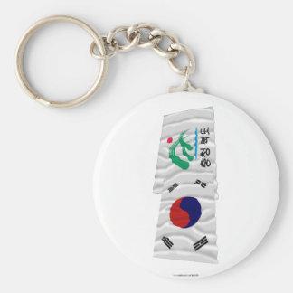 Corea y Chungchongbuk-hace las banderas que agitan Llaveros Personalizados
