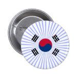 Coreana de Bandera Pin Redondo 5 Cm