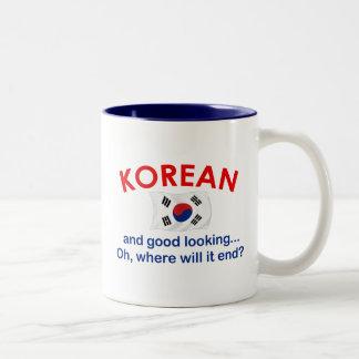 Coreano apuesto tazas de café