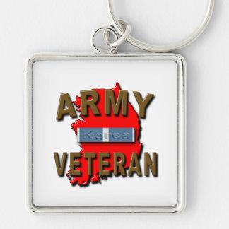 Coreano+Cinta del servicio del veterano de guerra, Llavero Personalizado