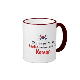 Coreano humilde taza de café
