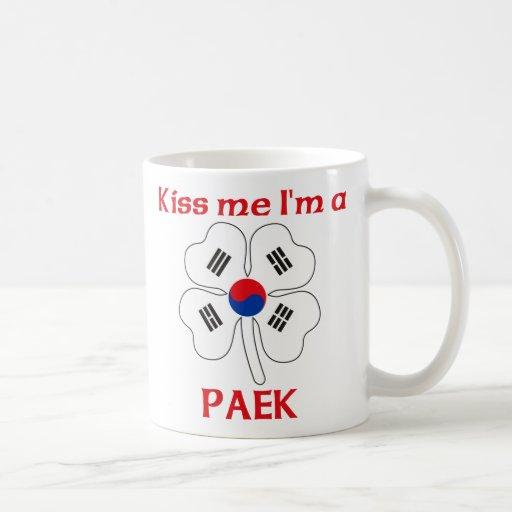 Coreanos personalizada me besan que soy Paek Taza