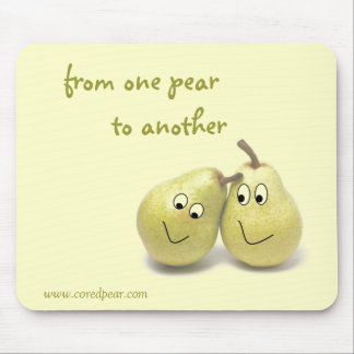 Cored Pear Mouse Pad