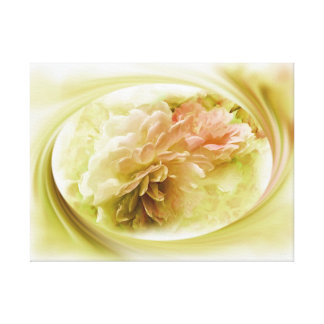 Corel Pink and Yellow Florals Canvas Prints