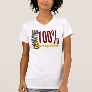 Coreógrafo auténtico camisetas
