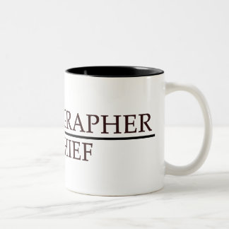 Coreógrafo en jefe taza de café