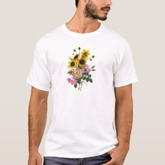 Coreopsis and Rose Hips Redoute Bouquet T-Shirt
