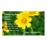 Coreopsis Flowers Business Cards