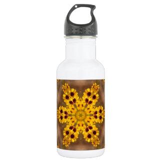 Coreopsis tinctoria Wildflower Kaleidoscope 18oz Water Bottle
