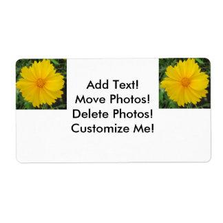 Coreopsis Yellow Flower Bloom Label