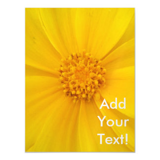 Coreopsis Yellow Flower Bloom Magnetic Card