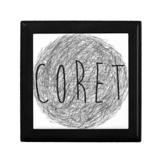 Coret Sketch Logo Jewelry Box