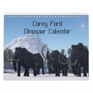 Corey Ford Dinosaur Calendar