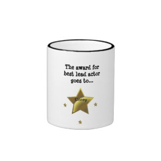 COREY: The Award For Best Lead Actor Ringer Coffee Mug