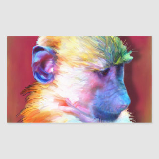 Corey the Baboon Rectangular Sticker