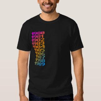 COREY TIGER 1980s NUMBERS Tee Shirts