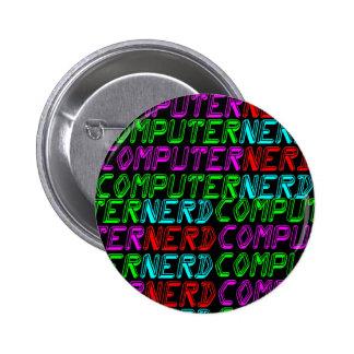 COREY TIGER 1980s RETRO COMPUTER NERD Buttons