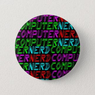 COREY TIGER 1980s RETRO COMPUTER NERD Pinback Button
