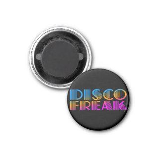 COREY TIGER 1980s RETRO DISCO FREAK MULTICOLOR 1 Inch Round Magnet