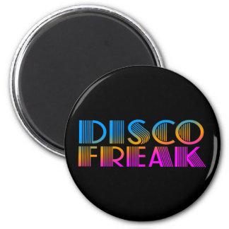 COREY TIGER 1980s RETRO DISCO FREAK MULTICOLOR 2 Inch Round Magnet