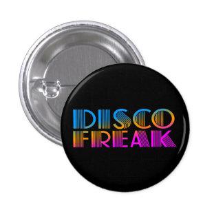 COREY TIGER 1980s RETRO DISCO FREAK MULTICOLOR Button