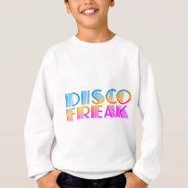 COREY TIGER 1980s RETRO DISCO FREAK MULTICOLOR Sweatshirt