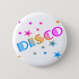 COREY TIGER 1980s RETRO DISCO STARS Button