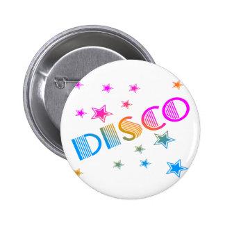 COREY TIGER 1980s RETRO DISCO STARS Button