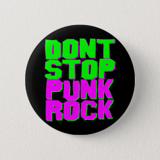Corey Tiger 1980S Retro Don'T Stop Punk Rock Button