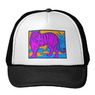 COREY TIGER 1980's RETRO JUNGLE TIGER PINK Trucker Hat
