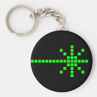 COREY TIGER 1980s RETRO LASER BEAM Basic Round Button Keychain