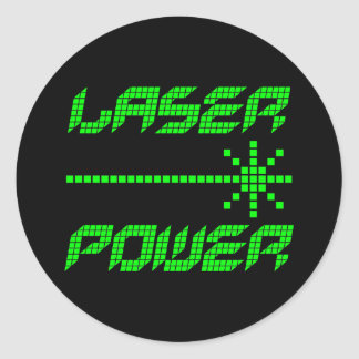 Corey Tiger 1980s Retro Laser Power Round Sticker