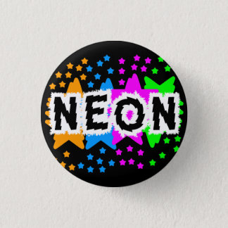 COREY TIGER 1980s RETRO NEON STARS Pinback Button