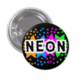 COREY TIGER 1980s RETRO NEON STARS Pinback Button