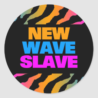 COREY TIGER 1980's RETRO NEW WAVE SLAVE Round Stickers