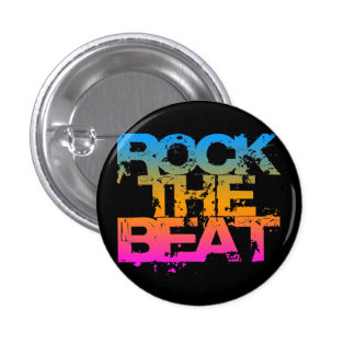 Corey Tiger 1980S Retro Rock The Beat 1 Inch Round Button