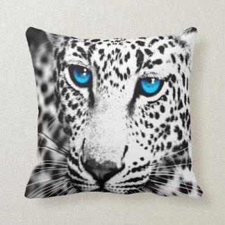 Corey Tiger 1980s Retro Snow Leopard Throw Pillow