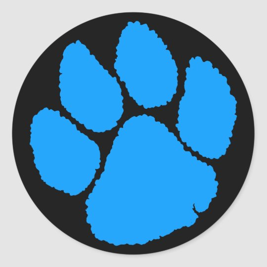 COREY TIGER 1980's RETRO TIGER CLAW BLUE Classic Round Sticker