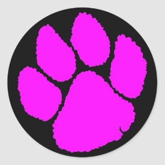 COREY TIGER 1980's RETRO TIGER CLAW PINK Sticker