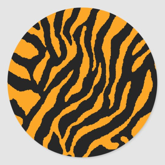 COREY TIGER 1980's RETRO TIGER STRIPES ORANGE Classic Round Sticker