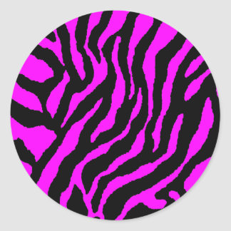 COREY TIGER 1980's RETRO TIGER STRIPES PINK Round Sticker