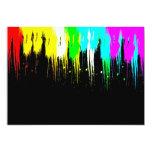 Corey Tiger 1980s Retro Vintage Neon Paint Drip 5x7 Paper Invitation Card
