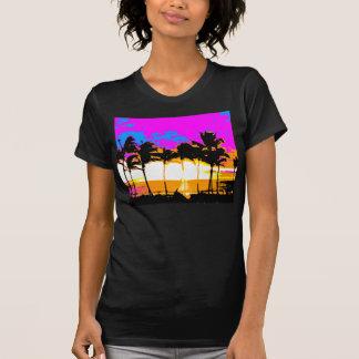 COREY TIGER 1980s RETRO VINTAGE PALM TREES SUNSET T-Shirt
